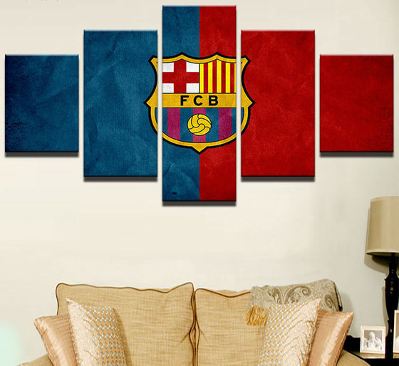 "FC Barcelona ""Red & Blue"" - 5 Piece Set - TheCanvasWarehouse"