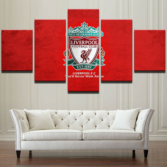 "Liverpool FC ""Home"" - 5 Piece Set - TheCanvasWarehouse"