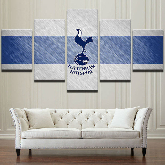 "Tottenham ""Blue/White"" - 5 Piece Set - TheCanvasWarehouse"