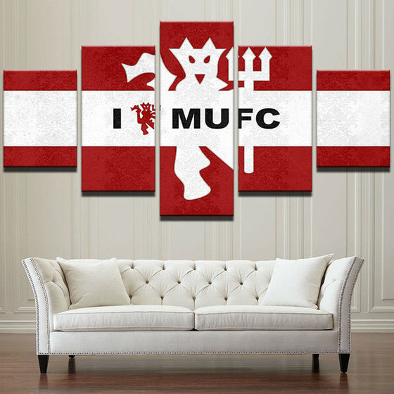 "Manchester United ""I Love MUFC"" - 5 Piece Set - TheCanvasWarehouse"