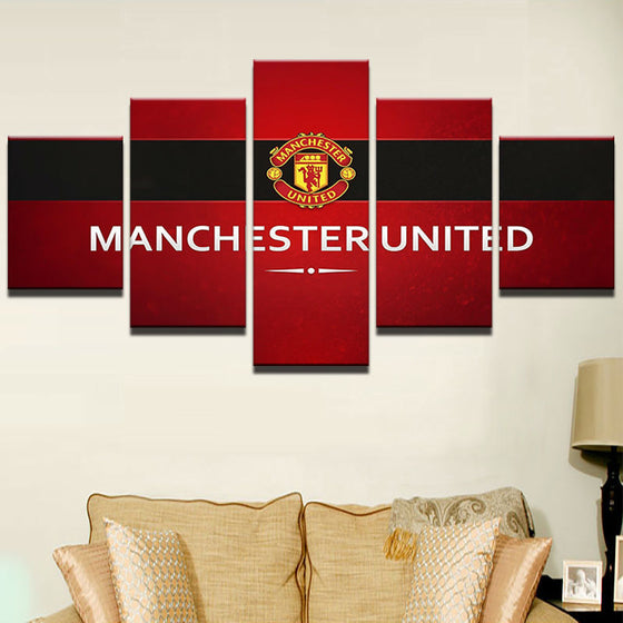 "Manchester United ""Red"" - 5 Piece Set - TheCanvasWarehouse"