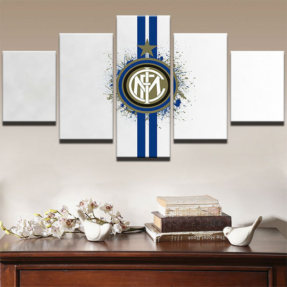 "Inter Milan ""White"" - 5 Piece Set - TheCanvasWarehouse"
