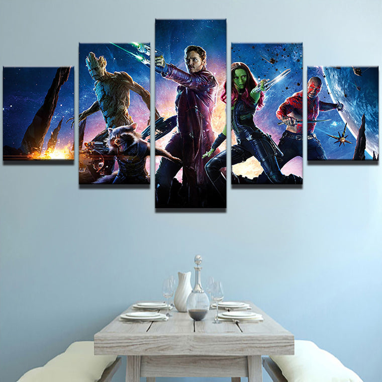 Guardians of the Galaxy - 5 Piece Set - TheCanvasWarehouse