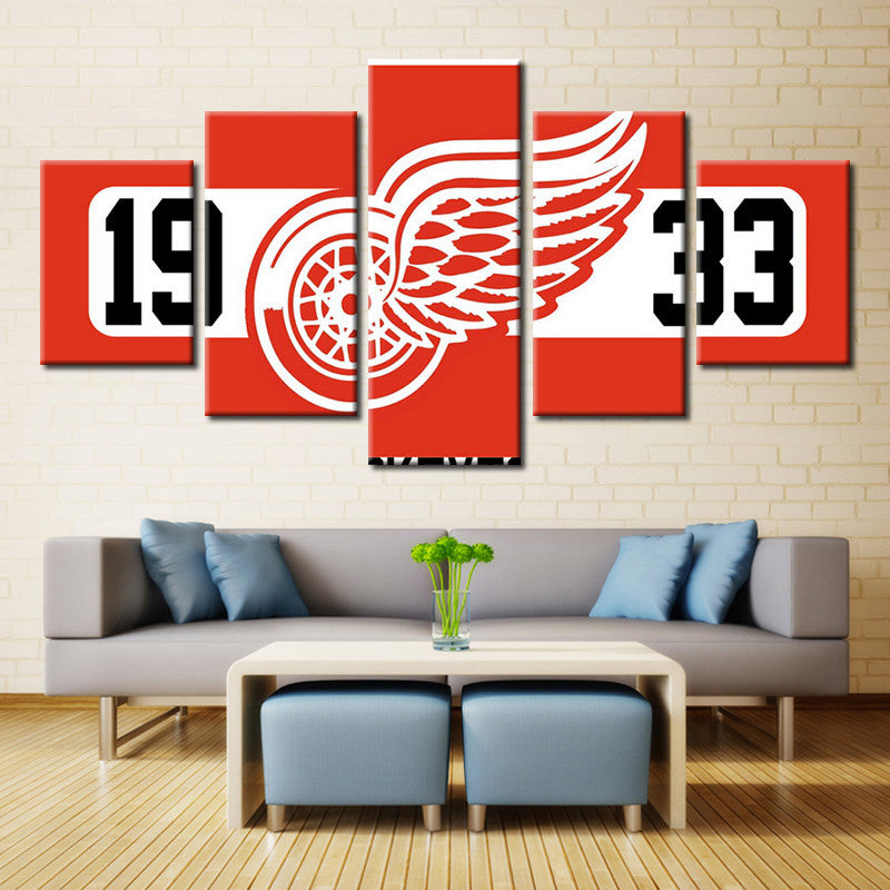 Detroit Red Wings - 5 Piece Set - TheCanvasWarehouse