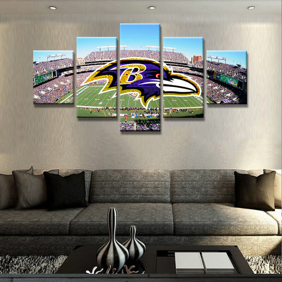 Baltimore Ravens - 5 Piece Set - TheCanvasWarehouse