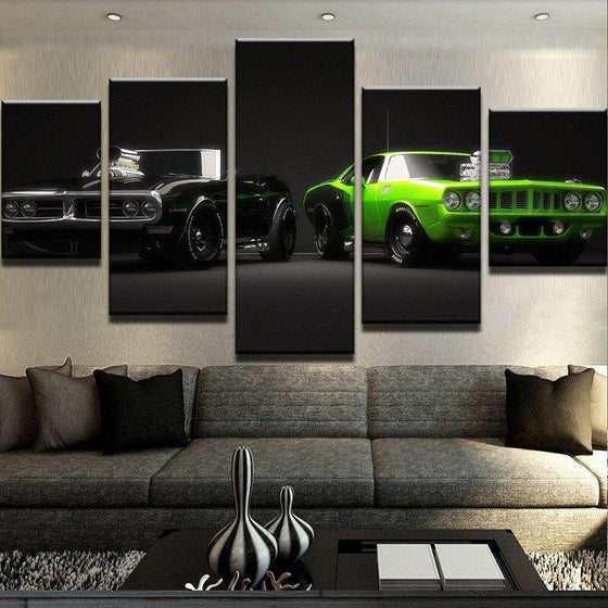 American Muscle Cars - 5 Piece Set - TheCanvasWarehouse