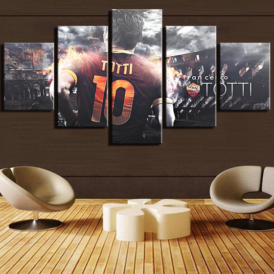 Francesco Totti - 5 Piece Set - TheCanvasWarehouse