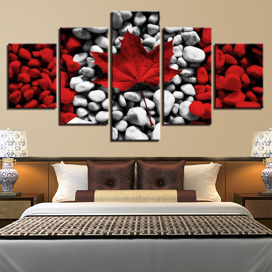 Canadian Maple Leaf - 5 Piece Set - TheCanvasWarehouse