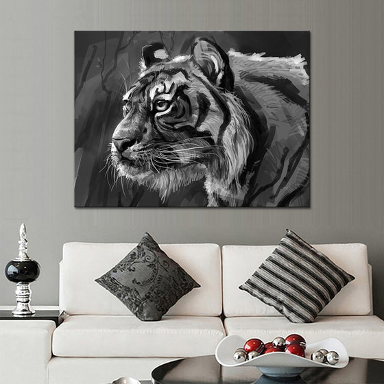 The Staring Tiger - TheCanvasWarehouse