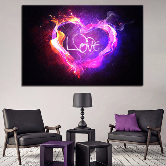 Flame of Love - TheCanvasWarehouse