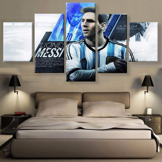 Lionel Messi Argentina - 5 Piece Set - TheCanvasWarehouse