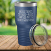 Torched Products Blue 30 Pages of Rules Laser Engraved Tumbler