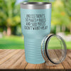 Torched Products Light Blue 30 Pages of Rules Laser Engraved Tumbler
