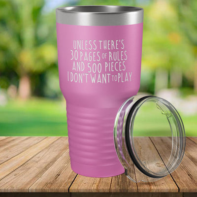 Torched Products Light Purple 30 Pages of Rules Laser Engraved Tumbler