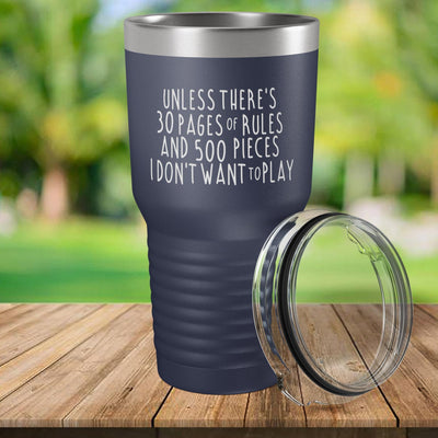 Torched Products Navy 30 Pages of Rules Laser Engraved Tumbler