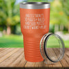 Torched Products Orange 30 Pages of Rules Laser Engraved Tumbler