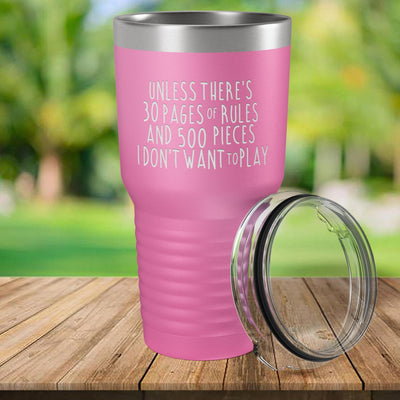 Torched Products Pink 30 Pages of Rules Laser Engraved Tumbler