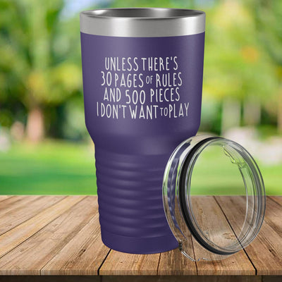 Torched Products Purple 30 Pages of Rules Laser Engraved Tumbler