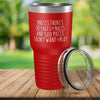 Torched Products Red 30 Pages of Rules Laser Engraved Tumbler