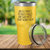 Torched Products Yellow 30 Pages of Rules Laser Engraved Tumbler