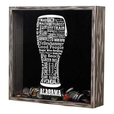 Torched Products Shadow Box Alabama Beer Typography Shadow Box (779427315829)
