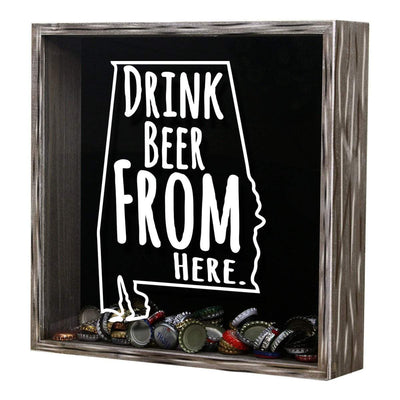 Torched Products Shadow Box Alabama Drink Beer From Here Beer Cap Shadow Box (781156810869)