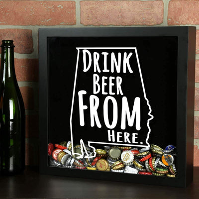 Torched Products Shadow Box Alabama Drink Beer From Here Beer Cap Shadow Box