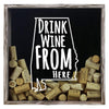 Torched Products Shadow Box Gray Alabama Drink Wine From Here Wine Cork Shadow Box (795675852917)