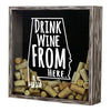 Torched Products Shadow Box Alabama Drink Wine From Here Wine Cork Shadow Box (795675852917)