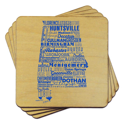 Torched Products Coasters Alabama State Typography Coaster (787773554805)
