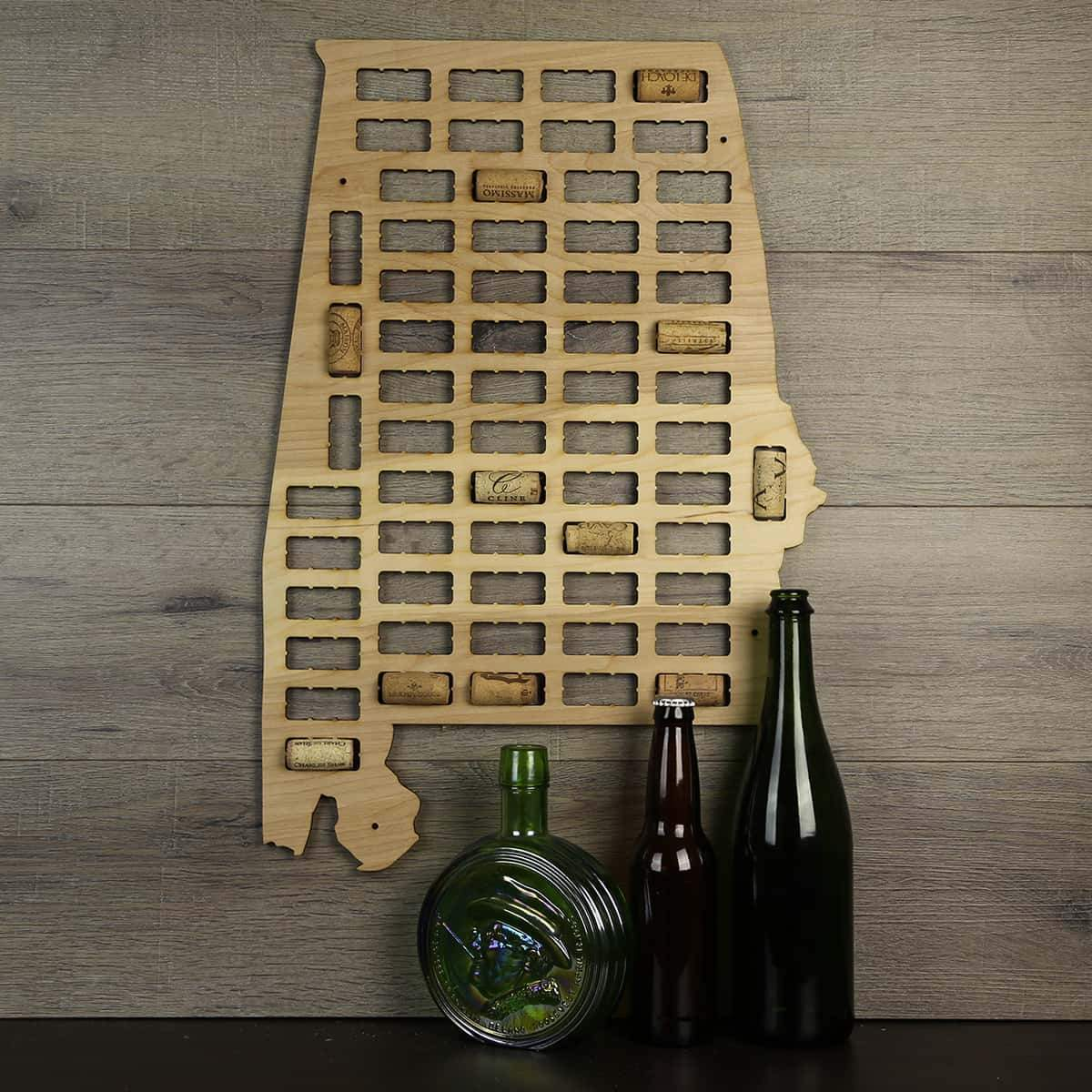 Torched Products Wine Cork Map Alabama Wine Cork Map (778932912245)