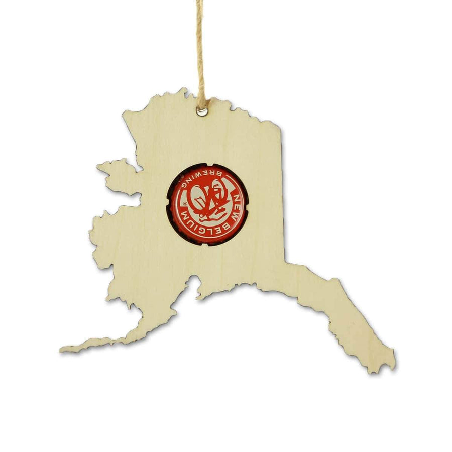 Torched Products Beer Cap Maps Alaska  Beer Cap Map Ornaments (781507002485)