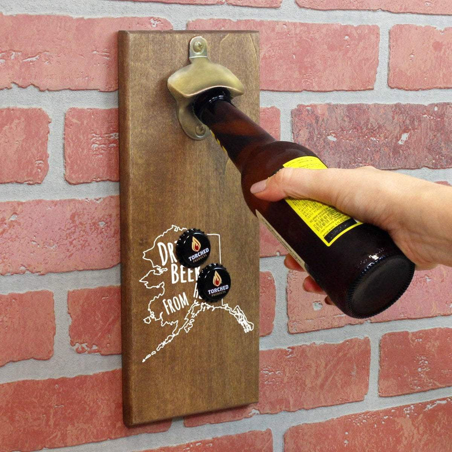 Torched Products Bottle Opener Default Title Alaska Drink Beer From Here Cap Catching Magnetic Bottle Openers (781476593781)