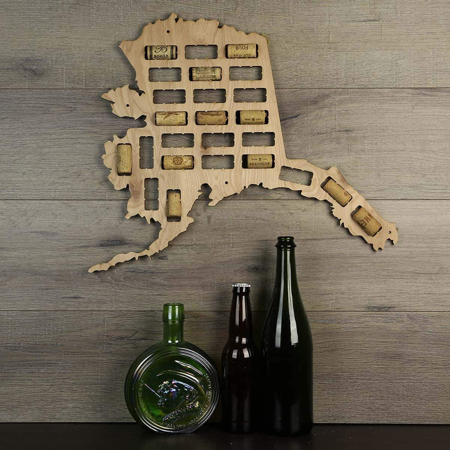Torched Products Wine Cork Map Alaska Wine Cork Map (778942120053)