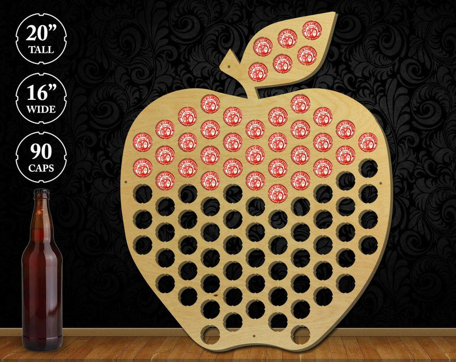 Torched Products Beer Bottle Cap Holder Apple Beer Cap Holder
