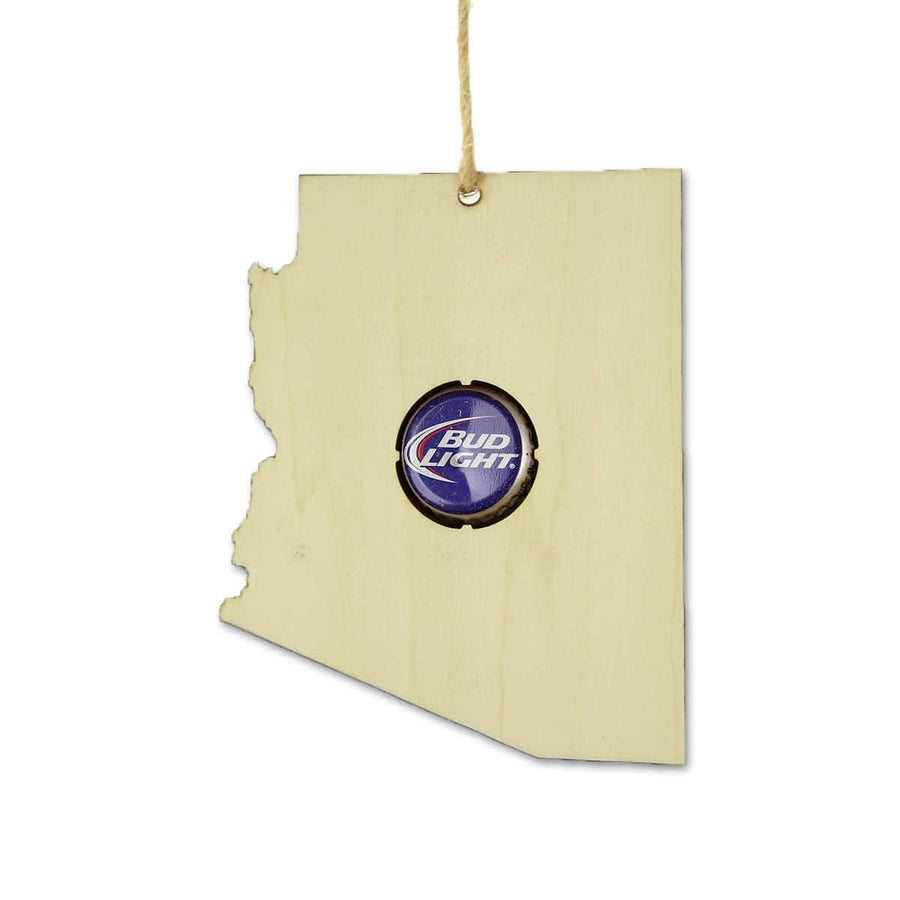 Torched Products Beer Cap Maps Arizona Beer Cap Map Ornaments