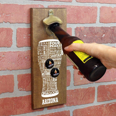 Torched Products Bottle Opener Default Title Arizona Craft Beer Typography Cap Catching Magnetic Bottle Opener (789156888693)