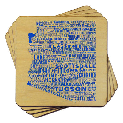 Torched Products Coasters Arizona State Typography Coaster