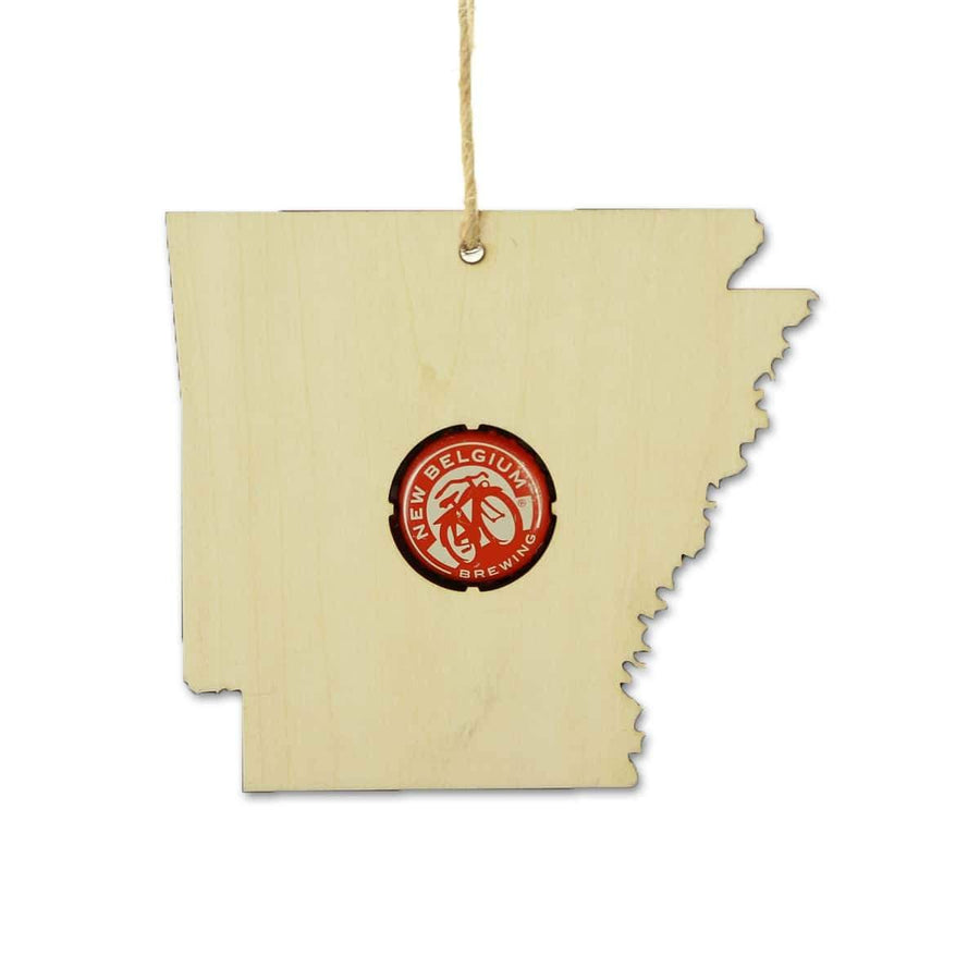 Torched Products Beer Cap Maps Arkansas Beer Cap Map Ornaments