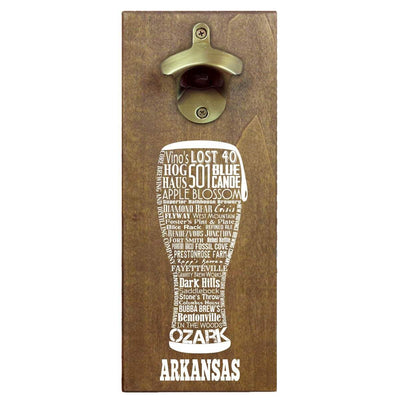 Torched Products Bottle Opener Default Title Arkansas Craft Beer Typography Cap Catching Magnetic Bottle Opener (789157478517)