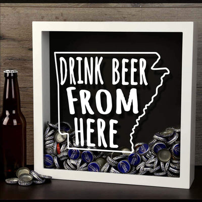 Torched Products Shadow Box Arkansas Drink Beer From Here Beer Cap Shadow Box