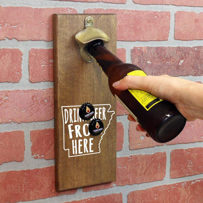 Torched Products Bottle Opener Default Title Arkansas Drink Beer From Here Cap Catching Magnetic Bottle Openers (781477052533)