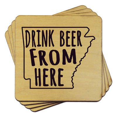 Torched Products Coasters Arkansas Drink Beer From Here Coasters