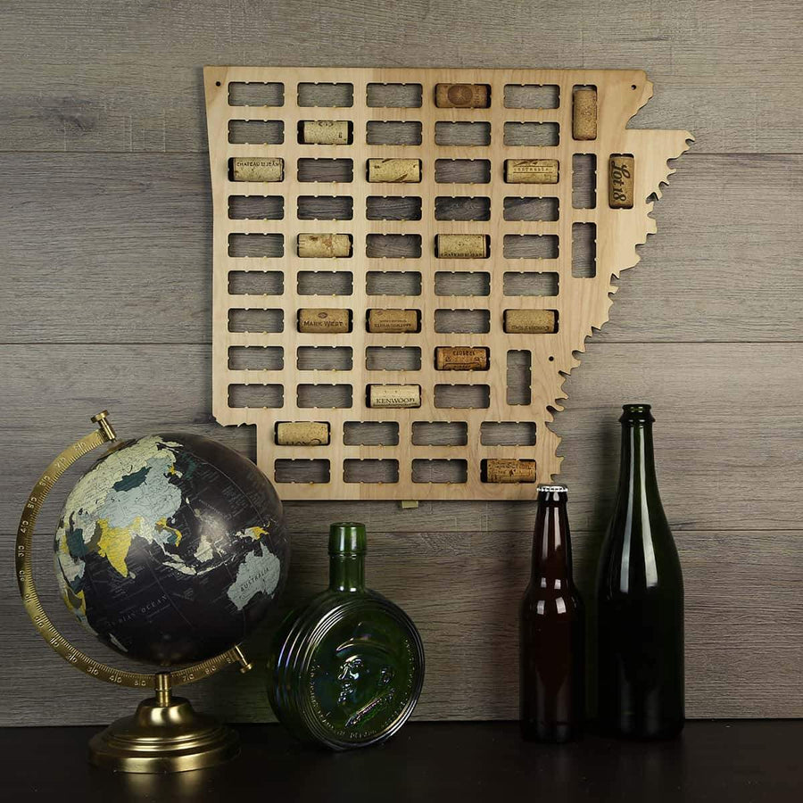Torched Products Wine Cork Map Arkansas Wine Cork Map (778949886069)