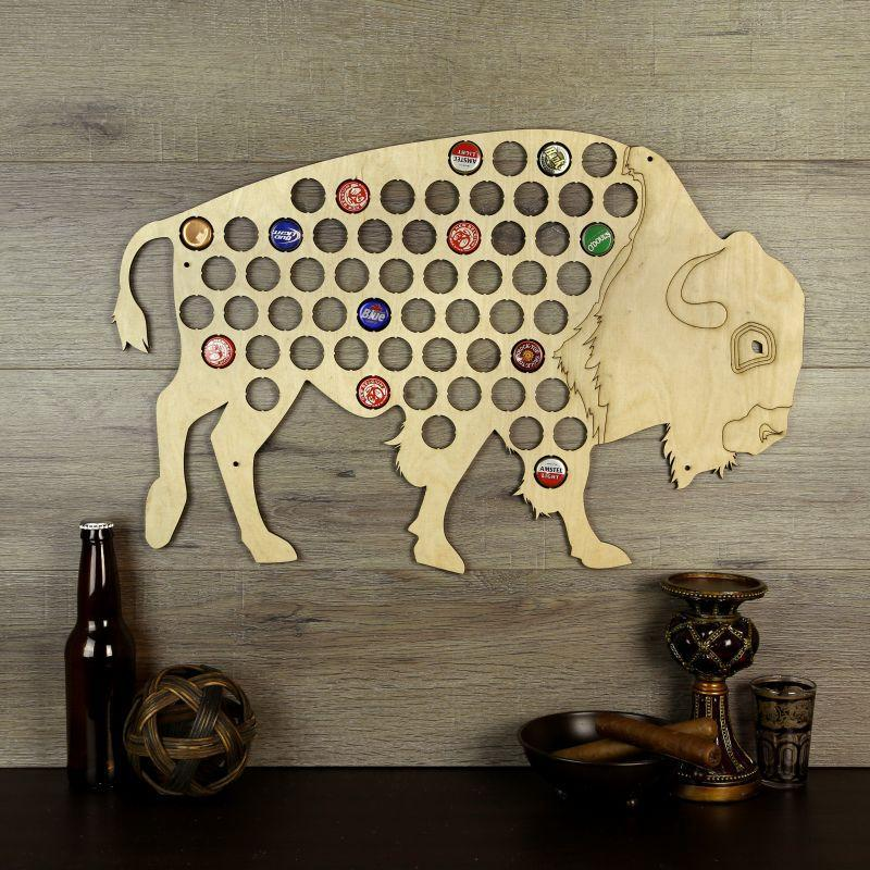 Torched Products Beer Bottle Cap Holder Buffalo Beer Cap Holder