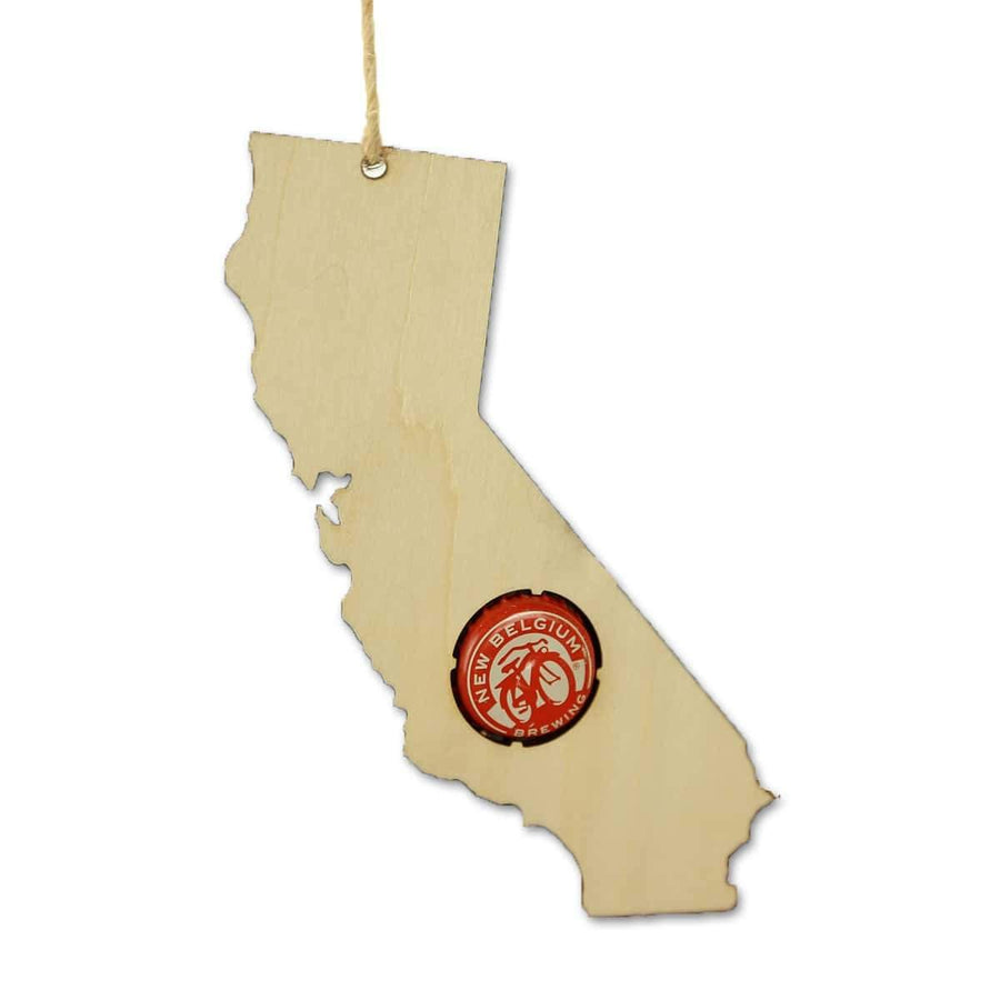 Torched Products Beer Cap Maps California Beer Cap Map Ornaments (781508509813)