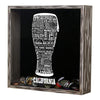 Torched Products Shadow Box California Beer Typography Shadow Box (779401953397)