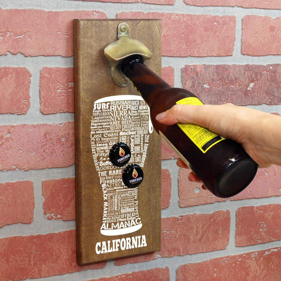 Torched Products Bottle Opener Default Title California Craft Beer Typography Cap Catching Magnetic Bottle Opener