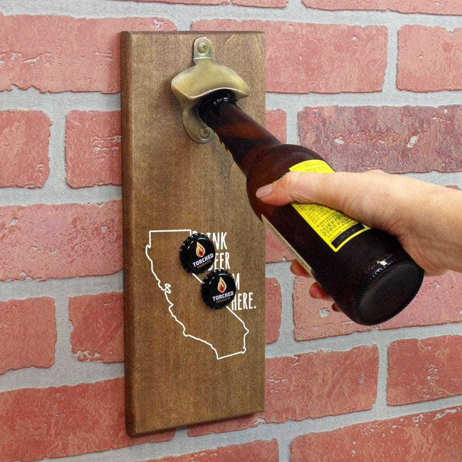 Torched Products Bottle Opener Default Title California Drink Beer From Here Cap Catching Magnetic Bottle Openers (781479247989)