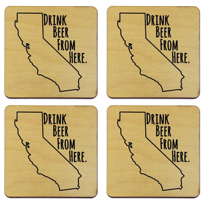 Torched Products Coasters California Drink Beer From Here Coasters (781443367029)